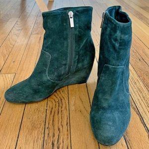 ALDO Teal genuine suede vintage look boots!!!